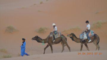モロッコ体験談 春4月no.1|サハラ砂漠の風の画像