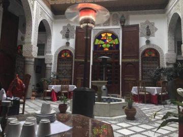 モロッコのホテル・リヤドの画像