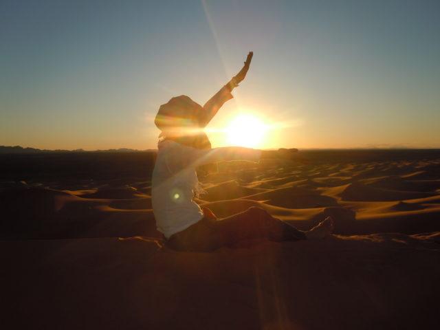 モロッコ砂漠ツアー サンセット