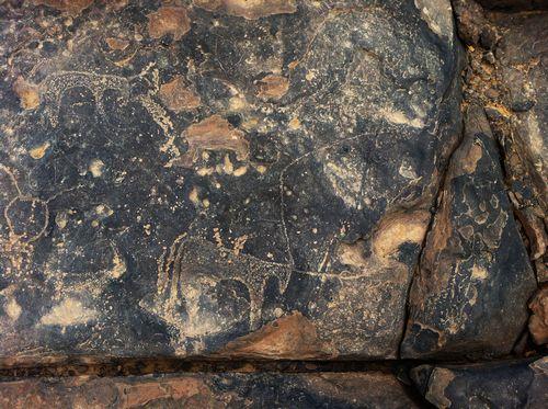モロッコの岩絵