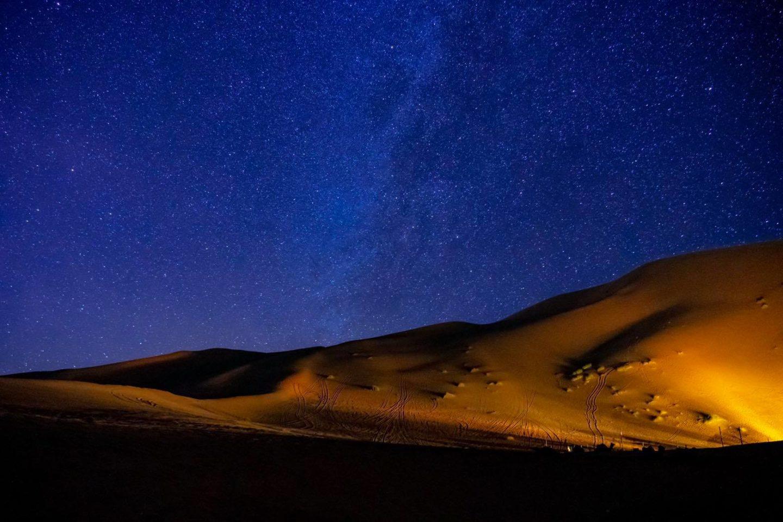モロッコ砂漠ツアー 夜の星空