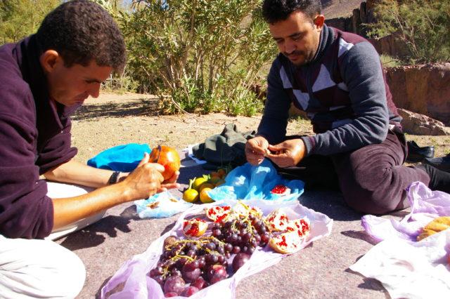 モロッコの秋の果物