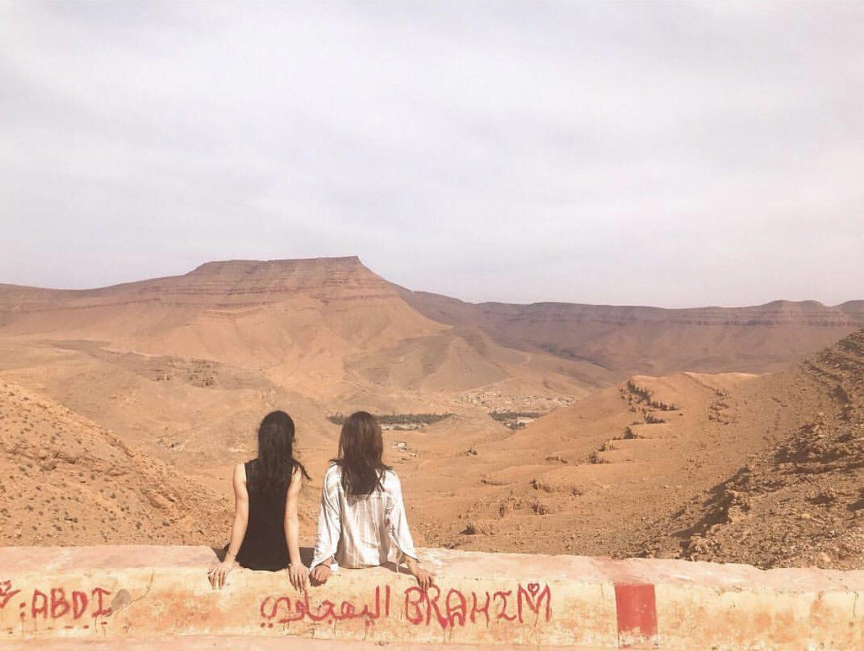 モロッコの台形の山