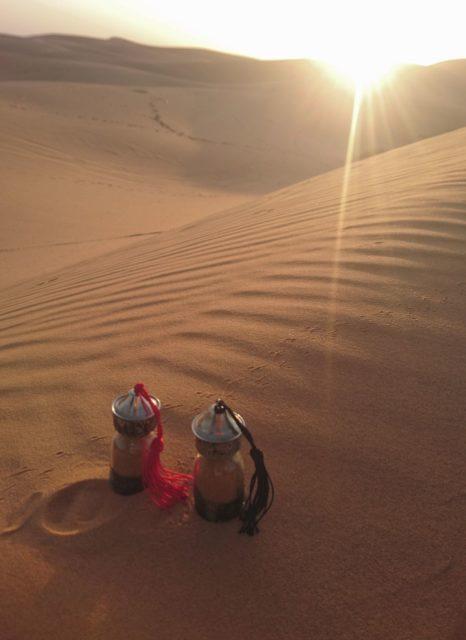 サハラ砂漠の風ツアーで訪れた砂漠の日の出