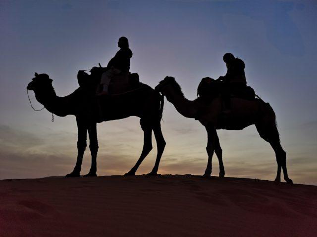 砂漠でサンセット