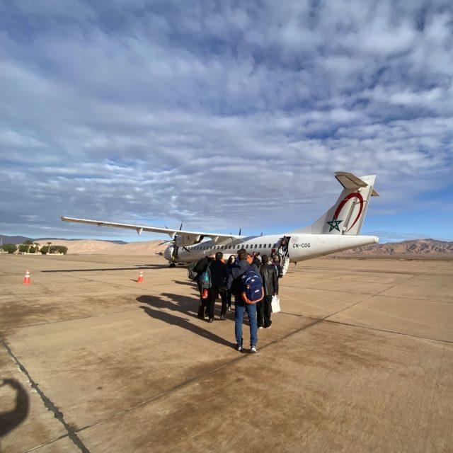 エラシディア空港からカサブランカ空港へ