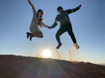 1番印象に残ったのはサハラ砂漠で見た星空と朝日の画像
