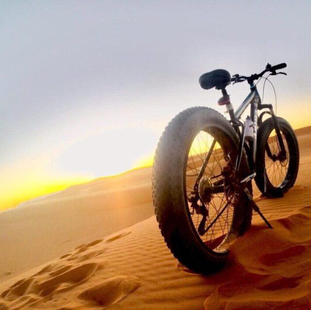 モロッコの砂漠とサンセット