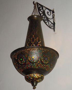 モロッコ 鉄細工・ランプの画像